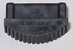 Euroline Premium Leiterfuß schwarz 64x25mm Paar