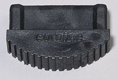 Euroline Premium Leiterfuß schwarz 74x25mm Paar
