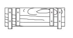 Euroline Stirnbordbrett 0,75m