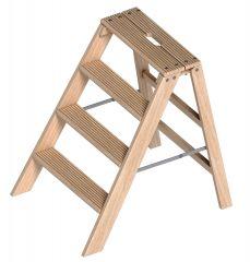 Layher 1055 klappbarer Holzstufentritt