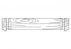 Euroline Stirnbordbrett 1,50m