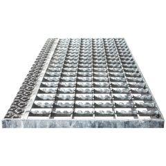 Euroline Stufenbelag Stahl-Gitterrost für 800mm Stufenbreite