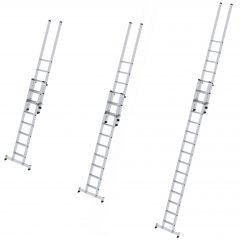 Günzburger Stufen-Schiebeleiter mit nivello-Traverse 2-teilig