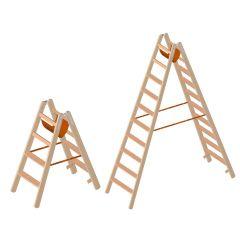 Layher 1020 Holzstehleiter mit Stufen