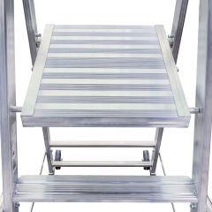 Euroline Premium 32677 Stufenstehleiter mit großer Standplattform 6 Stufen