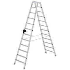 Günzburger Stehleiter mit ergo-pad beidseitig begehbar 2x12 Stufen
