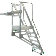 Facal Binary Schiebe-Podesttreppe Aluminium S600 5 Stufen