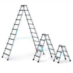 Zarges Stehleiter Comfortstep B mit gepolsterter Stufen-Vorderkante, beidseitig begehbar