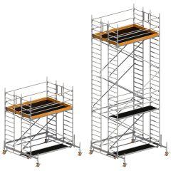 Layher Doppelaufbau für Uni Standard