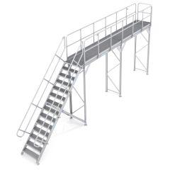 Zarges Enteisungsbühne Basismodul mit Treppenzugang 3m Höhe 6m Länge