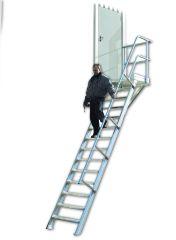 Euroline 511 Podesttreppe 45° 1000mm Stufenbreite 5 Stufen
