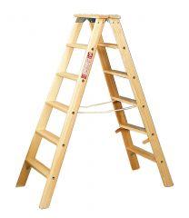 Euroline Holz Stufenstehleiter 2x5 Stufen