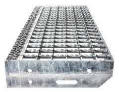 Euroline Stufenbelag Stahl-Gitterrost für 600mm Stufenbreite