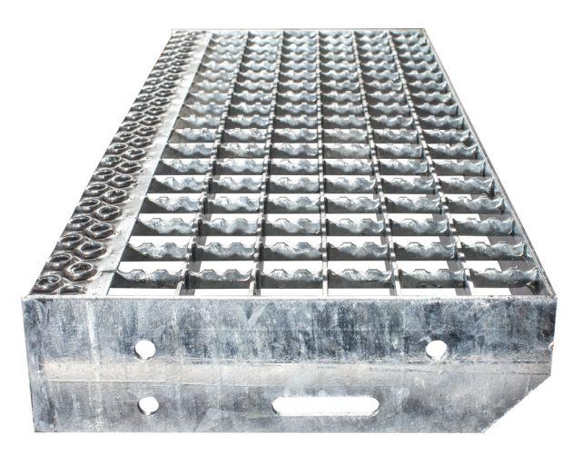 Euroline Stufenbelag Stahl-Gitterrost für 1000mm Stufenbreite