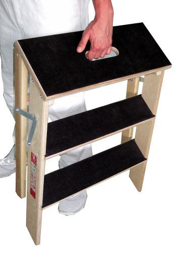 euroline 10580 holz stufenpodest einseitig begehbar. Black Bedroom Furniture Sets. Home Design Ideas