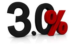3% Rabatt bei Vorkasse
